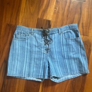 Faded Glory Corset Denim Jean Shorts Plus Size 18